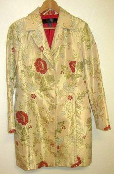 Womens Coat 14 Large Tapestry Gold Floral Jacket Vintage Anthropologie Look Boho | eBay