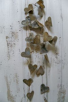 Rusty heart wedding garland weathered hearts by AnitaSperoDesign,