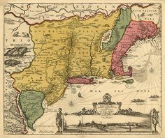 New Netherland and New England, and also parts of Virginia, Novi Belgii Novæque Angliæ nec non partis Virginiæ tabula.  Reproduction Map.