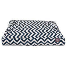 Majestic Pet Chevron Rectangle Dog Bed - Navy Blue - Medium : Target, $74