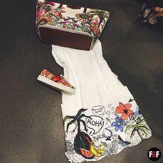 ALOHA!  #DESIGUAL #summer #collection #outfit #dress #sneakers #shoes #bag #print #beach #lookbook #lookoftheday #desigual #style #fashion #fun #styleforwomen #stylegirl #womanfashion