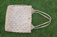 BagMacrameWeaving Basket RopeHandmadeIvory color by CraftingMode