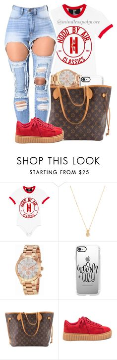 """ Two in the morning ain't late enough we gone be here til' the sun shows up "" by mindlesspolyvore ❤ liked on Polyvore featuring Wanderlust + Co, Michael Kors, Casetify and Louis Vuitton"