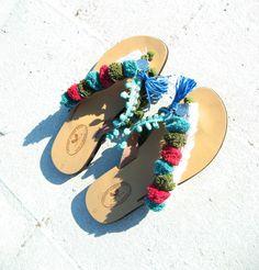 Boho Sandals/Leather Slides Sandals/Womens gypsy sandals/Sandals/Bohemian shoes/Boho/Indie/Hippie/ Ancient Greek Sandals/Barefoot sandals