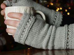 Modèle gratuit : Mitaines au tricot - par Mes favoris Tricot-Crochet
