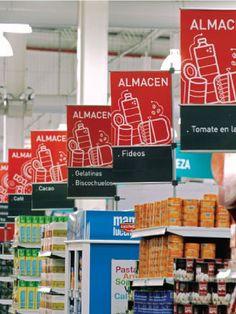 Retail Signage | Retail Design | Supermarket Sign Design Paola Camano Diseño
