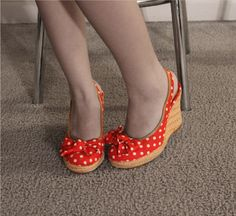 my only polka dot shoes....and I love them they r so 50's