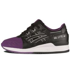 ASICS Gel Lyte III 50/50 Pack Purple / Black - ASICS The ASICS Gel Lyte III from the 50/50 Pack has nubuck and leather uppers, and white details with the infamous split tongue and gel technology. Free UK shipping!