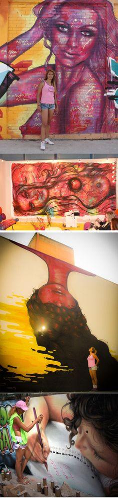 ana2 Grafite feminista da artista brasileira Panmela Castro