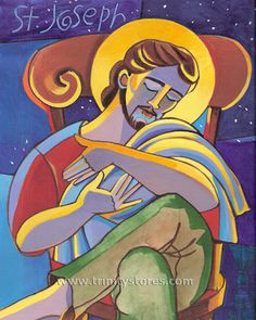 "St. Joseph | Catholic Christian Religious Art - Artwork by Br. Mickey McGrath, OSFS - From your Trinity Stores crew, ""May St. Joseph watch over you today!"""