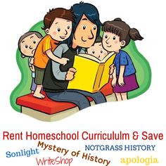 Apologia rental prices starting at $15 Mystery of History starting at $19.50 Math U See- complete student and teacher sets starting at $69.50 Save over 60% on Sonlight! ...So much more. We invite you to come over for a visit RENT and SAVE