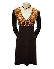 Sort kjole med leopard - KARTO Fall
