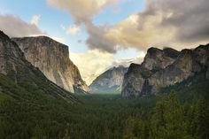 Clearing Skies from Tunnel View, Yosemite National Park [pano] by andrew c mace, via Flickr