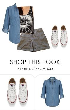 """""""ootd 3.20.17"""" by shortiecoffoee ❤ liked on Polyvore featuring Converse, Urban Outfitters and Miss Selfridge"""