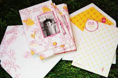 Beautiful letterpress birth announcements!