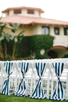 Stripe Sashes: http://www.stylemepretty.com/2015/06/23/nautical-details-for-your-summer-wedding/