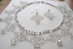 crochet necklace by LillySmuul, via Flickr