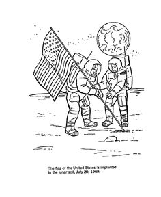 America Space Program Coloring Page
