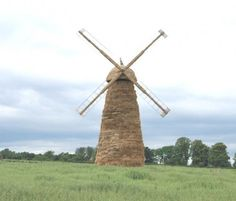 Windmill made from Hay Bales