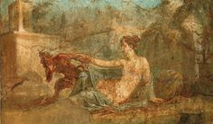 Pan meets Hermaphrodite. Roman Wall Painting, House of the Dioscuri , Pompeii, c. 1st c. CE