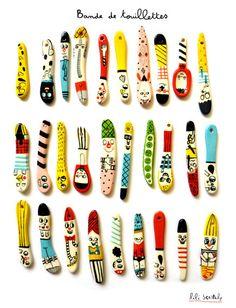 Ceramic spoons. http://www.liliscratchy.blogspot.com/
