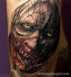 What does zombie tattoo mean? We have zombie tattoo ideas, designs, symbolism and we explain the meaning behind the tattoo. Creative Tattoos, Great Tattoos, Beautiful Tattoos, Body Art Tattoos, Sleeve Tattoos, Awesome Tattoos, Tatoos, Ship Tattoos, Men Tattoos