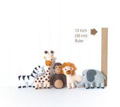 Mini Jungle Animal Sewing Patterns Zoo by LittleSoftieShoppe