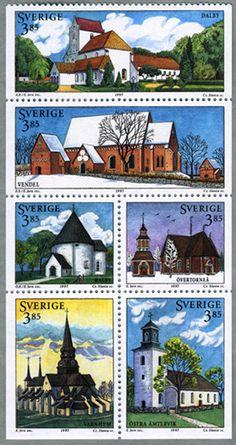 Sweden Postage Stamp Set, 1997 #Sverige #Philately