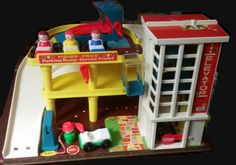 Vintage Fisher-Price Garage Playset 1970 by AlchemyCollectibles