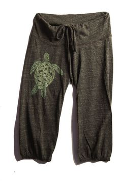 be still my Sea Turtle Pants, Cropped Pants, Yoga Capris, S,M,L,XL. $26.00, via Etsy.