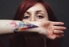 watercolor prism.. Amazing !  Wrist tattoo ?