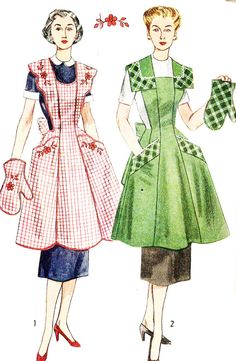 Simplicity 4092 Vintage 1950s Full Apron and by DRCRosePatterns