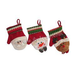 santa muñeco de nieve cabeza de venado guantes de navidad decoración-Adornos navideños-Identificación del producto:919465723-spanish.alibaba.com