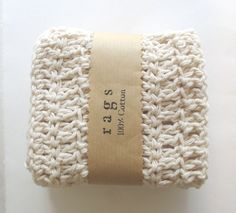cotton crochet dish cloth