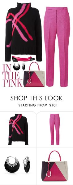 """In the Pink"" by dickensfan ❤ liked on Polyvore featuring MSGM, Yang Li, Bling Jewelry, Fendi and Salvatore Ferragamo"