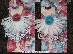 Love the skirts - Tim Holtz tags
