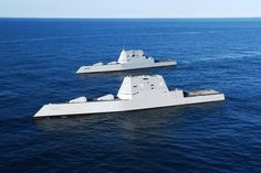 Zumwalt class destroyer USS Zumwalt with Uss Zumwalt, Turtle Ship, Navy Air Force, Us Navy Ships, Naval, United States Navy, Military Equipment, Sea And Ocean, Submarines
