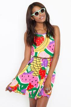 Fruit dress. Budget Goddess loves fruits fashion bargains!  budgetgoddess.com