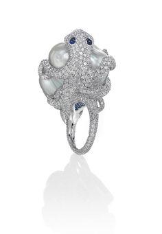 Mikimoto octopus ring