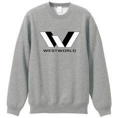 Gray Westworld sweatshirt with fleece lined for men