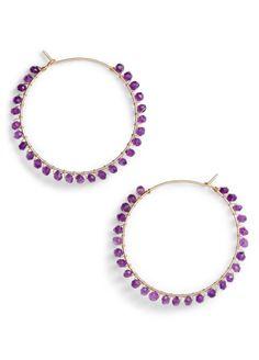 Gem Hoop Earrings