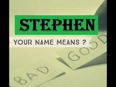 Stephen  Name Meanings - Personality Traits - Insights