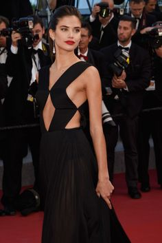 vs-aw:  Sara Sampaioat the 2015 Cannes Film Festival. {fashion, couture, manhattan, love}