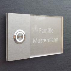 MODERNE Haustürklingel LED Klingelplatte Türklingel Klingel GRAVUR  72.001.F.015 in Heimwerker, Fenster, Türen & Treppen, Türklingelanlagen | eBay!
