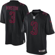 Nike Limited Jameis Winston Black Men's Jersey - Tampa Bay Buccaneers #3 NFL Impact
