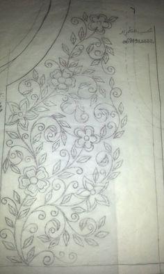 Risultati immagini per bordados en tul y dibujos Hand Embroidery Design Patterns, Kurti Embroidery Design, Embroidery On Clothes, Hand Embroidery Stitches, Silk Ribbon Embroidery, Embroidery Applique, Machine Embroidery, Fabric Patterns, Sewing Art