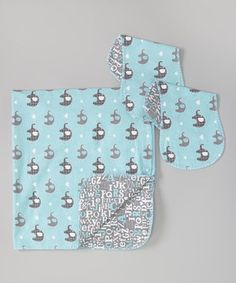 Another great find on #zulily! Blue Elephant Receiving Blanket Set by Sugar Leaf #zulilyfinds