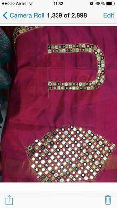 Embroidery Designs Free Download, Machine Embroidery Designs, Blouse Patterns, Blouse Designs, Mirror Words, Beaded Mirror, Mirror Work Blouse, Maggam Work Designs, Kutch Work