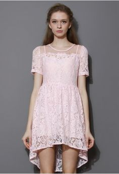 Promise Pink Organza Lace Dress