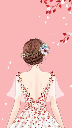 New Fashion Girl Wallpaper Beautiful 33 Ideas Fashion Illustration Dresses, Illustration Girl, Illustration Flower, Girl Illustrations, Simple Illustration, Pattern Illustration, Watercolor Illustration, Lovely Girl Image, Girls Image